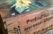 Artística cajón caja de mesa