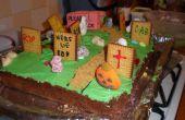 Torta de Halloween cementerio