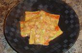Ravioles con salsa de crema de langosta
