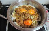 Pollo Biryani con huevos para un tiro adicional