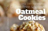 Cómo hacer libre de Gluten, galletas de avena veganas | Sólo 2 ingredientes