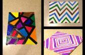 Muchas obras de arte abstracto DIY