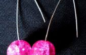 Hot Pink Mod pendientes