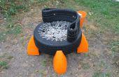 Neumático reciclado silla