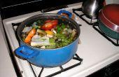 Lingotes de caldo vegetal