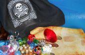 BOLSA de botín de pirata con mapa del tesoro