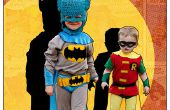 Disfraces DIY clásico Batman y Robin niños