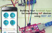 Construir sus aplicaciones Android para IoT dispositivos usando la API REST de control