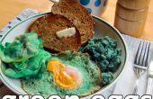 Huevos verdes verdaderos (y jamón)