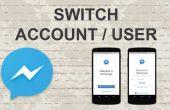 Cómo cambiar la cuenta en el Facebook Messenger en aplicación móvil