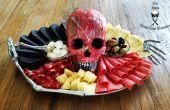 Desollado cráneo humano Antipasto plato