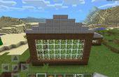 ¿Cómo hacer un techo de cobertizo en Minecraft