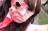 Zombie fácil/quemado de la piel maquillaje