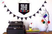 Día de fiesta DIY: Banner de tipografía de lana
