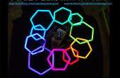 Hexágonos de la pipa PEX con tira de LED RGB