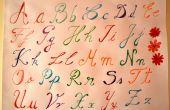 Tutorial de escritura - alfabeto en colores