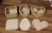 Personalizada en forma de cajas de madera