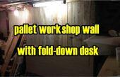 Revestimientos de madera Taller plataforma con doble hacia abajo del escritorio