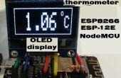 Termómetro digital en pantalla OLED con sensor de temperatura NodeMCU ESP8266 ESP-12E y DS18B20