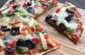 Pizza de pan de trigo sin horno