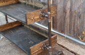 Estante de madera tubo de fontanería. (VIDEO)