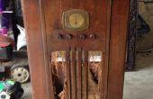 1937 radio mueble reciclado en minibar iluminado!