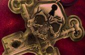 Talismán de esqueleto clave estaño
