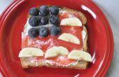 Tostada de la bandera de Estados Unidos (4 de julio receta)