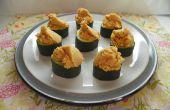 Tazas de pepino con Hummus picante