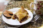 Una tarta de rebanada de manzana arándano (Pi)
