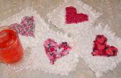 Cómo hacer San Valentín corazón Raggedy posavasos