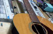 Simular la tensión de la cuerda de guitarra traste trabajo
