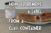 Forma fácil para quitar etiquetas de cristal