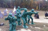 Grupo juguete soldado trajes