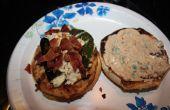Bacon y 2 de queso relleno de jalapeño Tex-Mex Turquía Burger