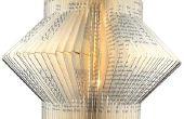 Lámpara reciclada de libro