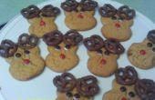 Cómo hacer mantequilla de maní Rudolph las galletas Reno