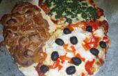 Tres curso comida Pizza
