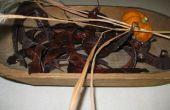 Caída de decoración con vainas de semillas de langosta
