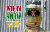 Casco de soldadura de barril de cerveza muy varonil