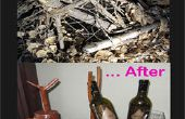 Antes y después del sostenedor de botella de vino