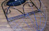 Cesta de alambre para una planta colgante