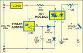 Control de interruptor de CA con Opto Triac