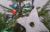 Ornamento del árbol de Navidad Ninja lanzando estrellas