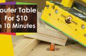 Cómo construir una mesa de fresadora para la madera por menos de $10 en 10 minutos