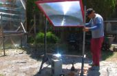 3D fibra de vidrio óptica arte brota de una lente de Fresnel