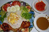 Plato de arroz de coco (Nasi Uduk Komplit)