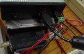 Molex de 4 pines fuente de alimentación / 2 HDD con un adaptador de alimentación