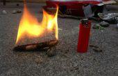 Arrancadores de fuego de serrín