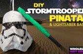 Star Wars - DIY piñata de soldados de asalto y murciélago de sable de luz